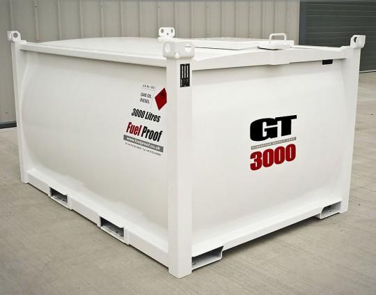Transport tanker i stål 2000-3000L